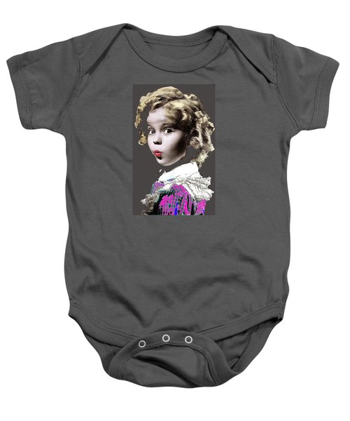 Shirley Temple Publicity Photo Circa 1935-2014 Baby Onesie by David Lee Guss