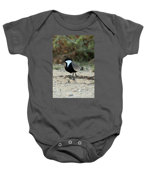 Spur-winged Plover And Chick Baby Onesie