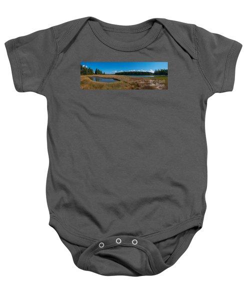 Thompson Island In Maine Panorama Baby Onesie