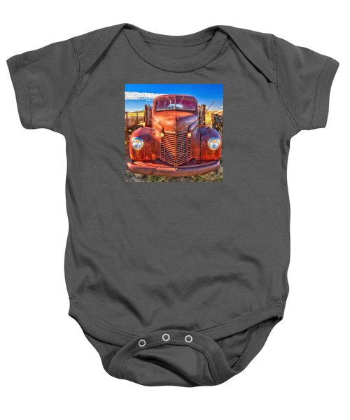 International Rust Baby Onesie