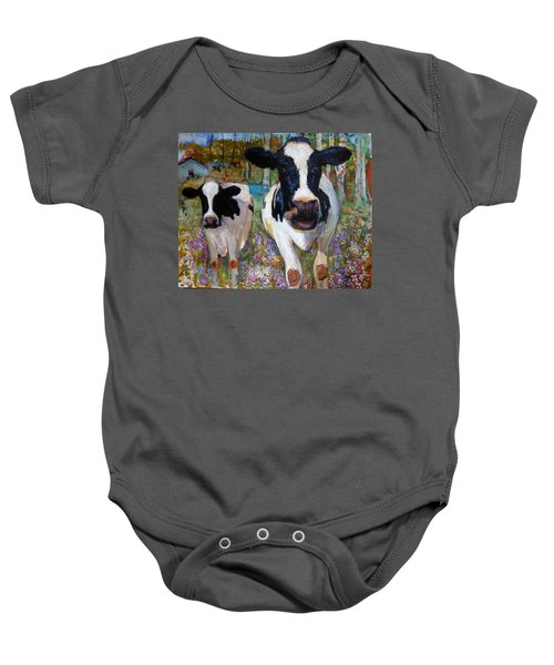 Up Front Cows Baby Onesie