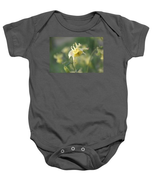 Yellow Columbine Baby Onesie