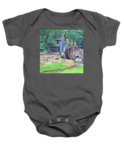 Sixes Mill On Dukes Creek - Square Baby Onesie
