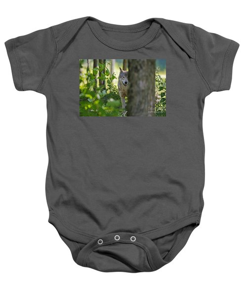 Timber Wolf  Baby Onesie