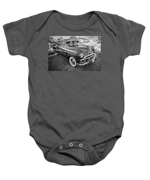 1950 Chevrolet Sedan Deluxe Painted Bw   Baby Onesie