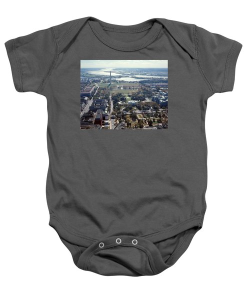 1960s Aerial View Washington Monument Baby Onesie