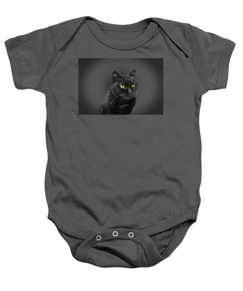 Black Cat Baby Onesie