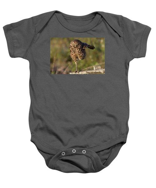 Burrowing Owl Photograph Baby Onesie