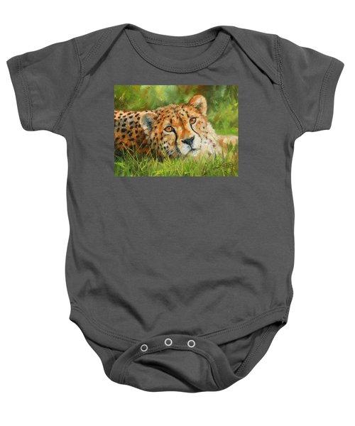 Cheetah Baby Onesie by David Stribbling