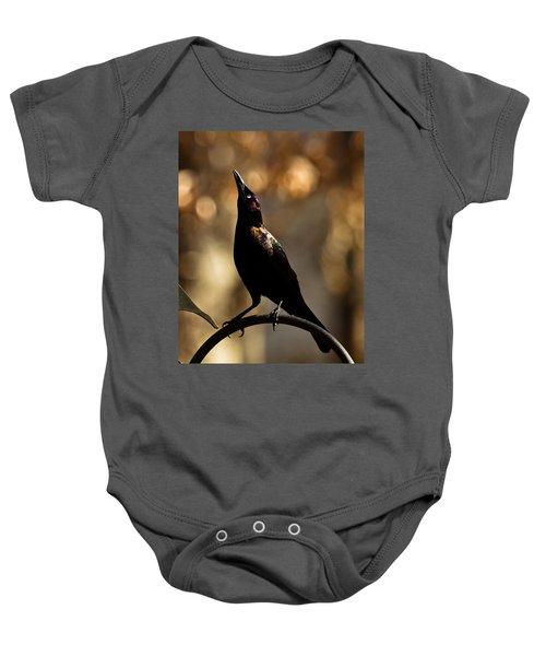 Common Grackle Baby Onesie