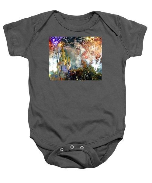 Fireworks Cinderellas Castle Walt Disney World Baby Onesie