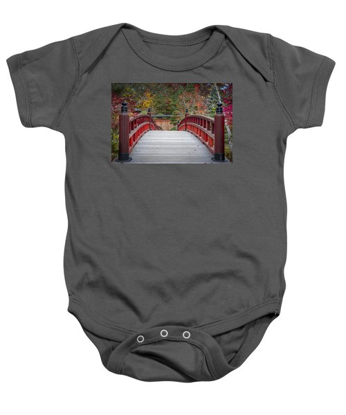 Baby Onesie featuring the photograph Japanese Bridge by Sebastian Musial