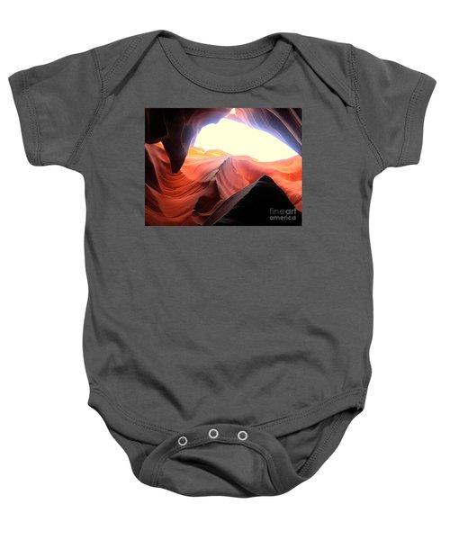 light symphony of Antelope canyon Baby Onesie