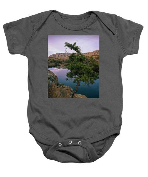 Post Oak Lake And Elk Mountain Baby Onesie