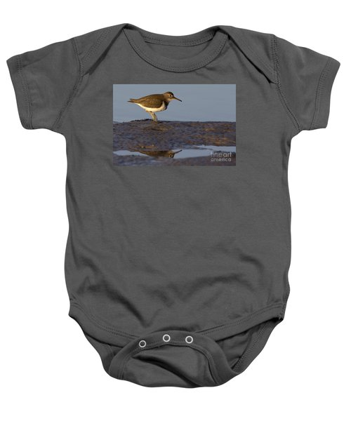 Spotted Sandpiper Reflection Baby Onesie