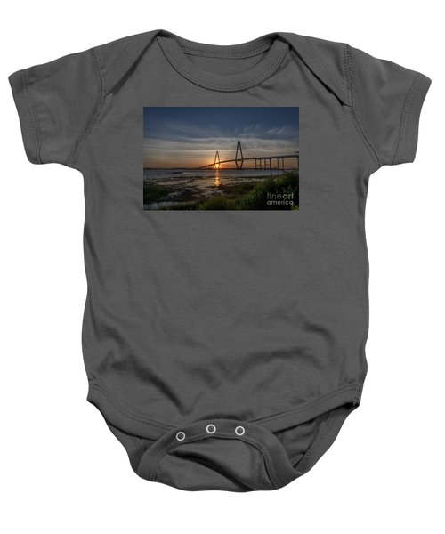 Sunset Over The Bridge Baby Onesie