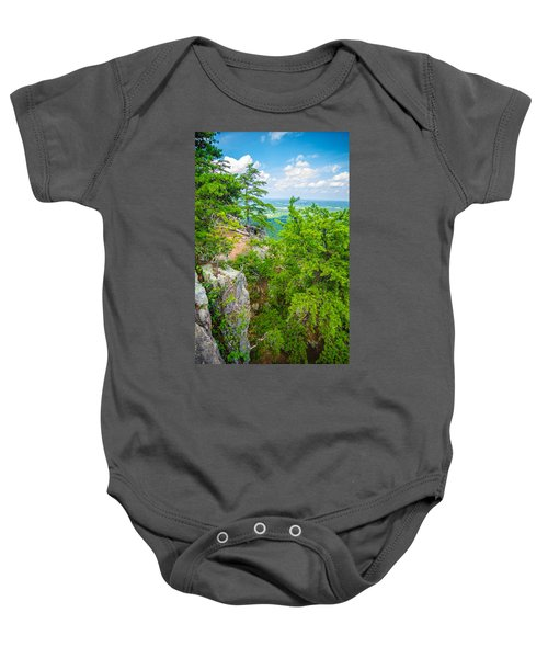Beautiful Aerial Landscape Views From Crowders Mountain North Ca Baby Onesie