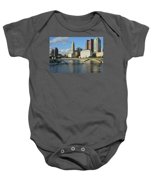 Columbus Ohio Skyline Photo Baby Onesie