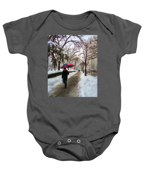 Snowfall In Central Park Baby Onesie
