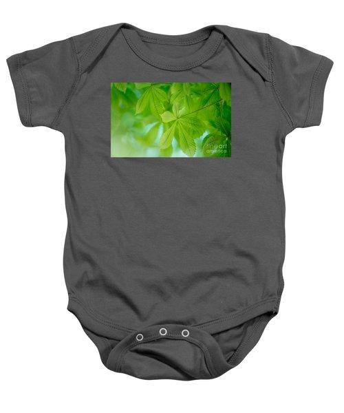 Spring Green Baby Onesie