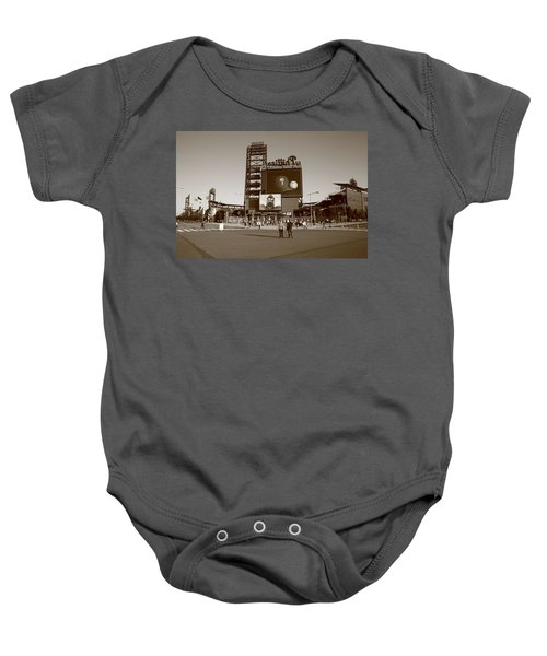 Baby Onesie featuring the photograph Citizens Bank Park - Philadelphia Phillies by Frank Romeo
