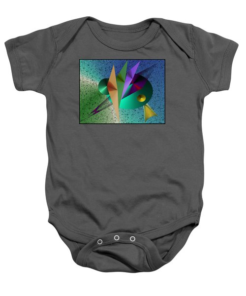 Abstract Bird Of Paradise Baby Onesie