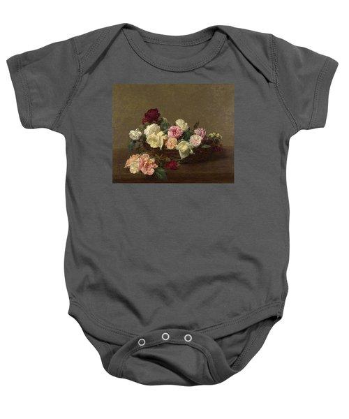 A Basket Of Roses Baby Onesie
