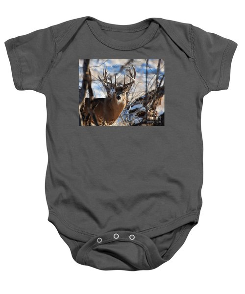 A Buck In The Bush Baby Onesie