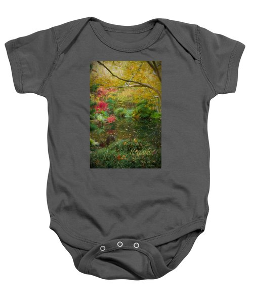 A Fall Afternoon With Message Baby Onesie