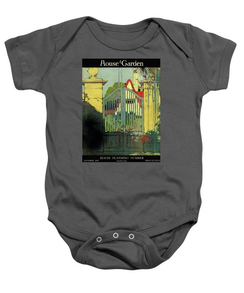 A House And Garden Cover Of A Gate Baby Onesie