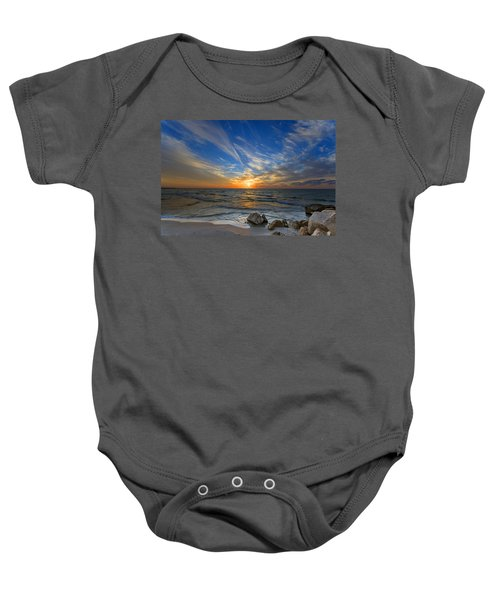 A Majestic Sunset At The Port Baby Onesie