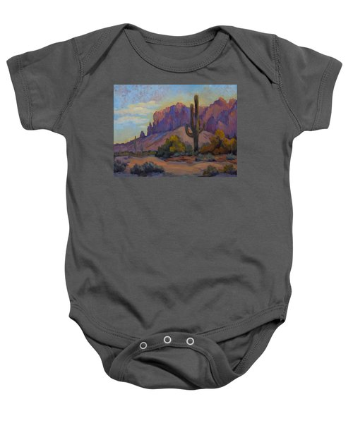 A Proud Saguaro At Superstition Mountain Baby Onesie