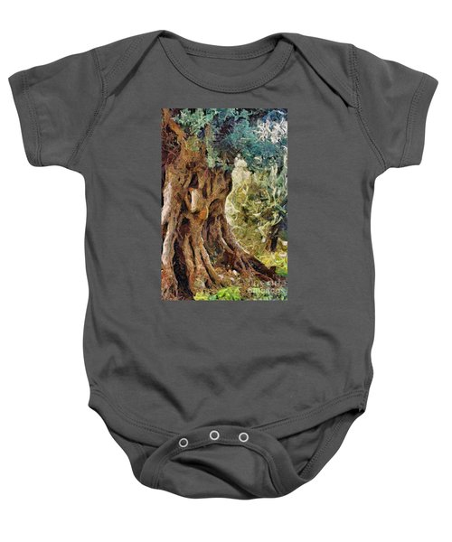 A Really Old Olive Tree Baby Onesie