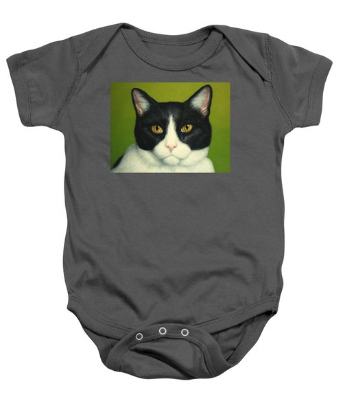 A Serious Cat Baby Onesie