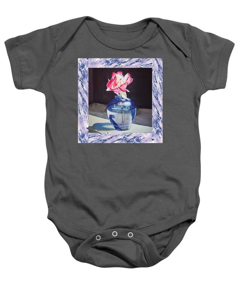 A Single Rose Mable Blue Baby Onesie