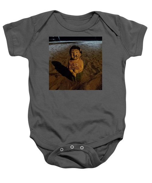 Baby Onesie featuring the photograph A Welcoming Friend On My Night Stroll by Mr Photojimsf