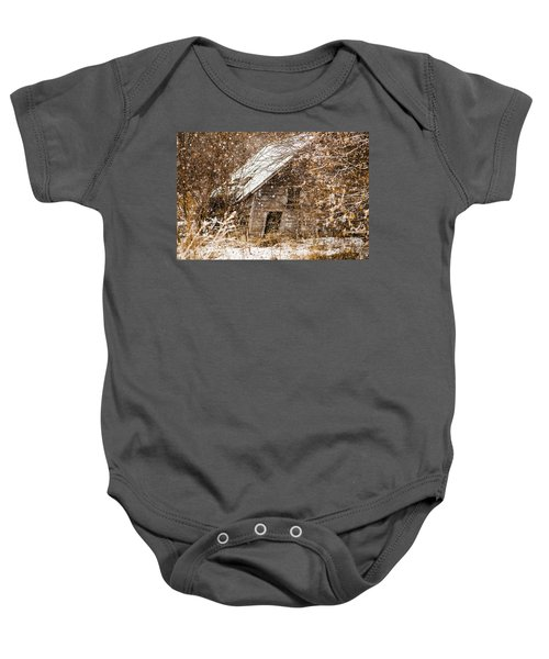 A Winter Shed Baby Onesie
