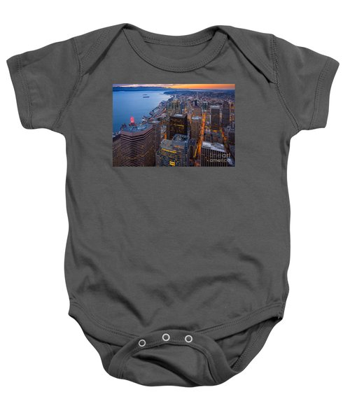 Above Seattle Baby Onesie