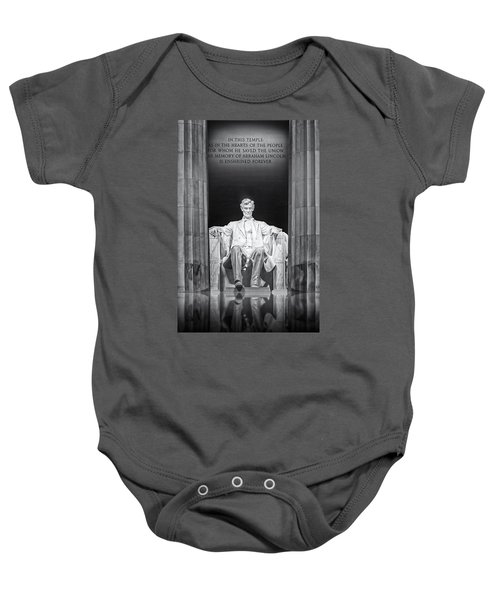 Abraham Lincoln Memorial Baby Onesie