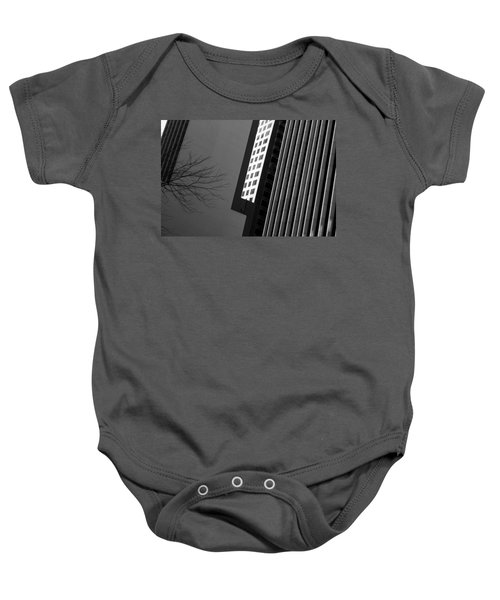 Abstract Building Patterns Black White Baby Onesie
