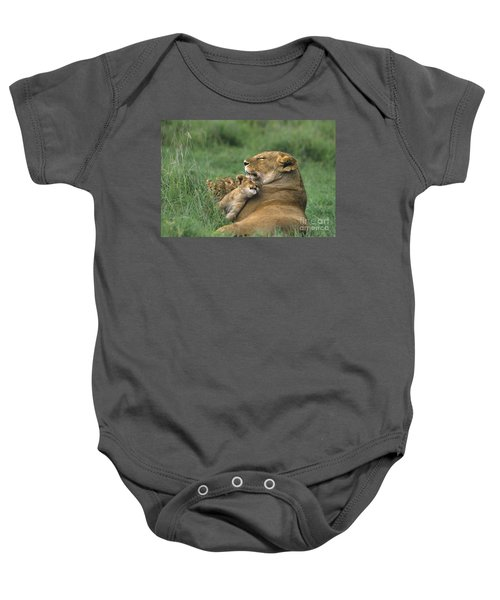 African Lions Mother And Cubs Tanzania Baby Onesie