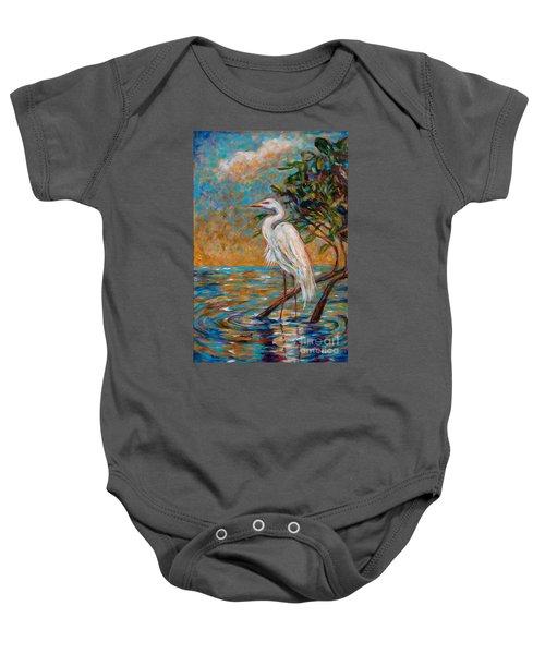 Afternoon Egret Baby Onesie