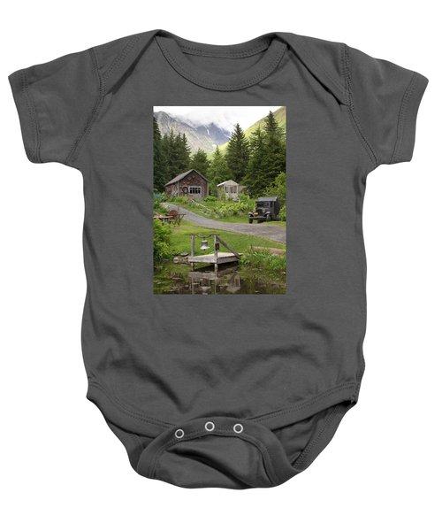 Alaskan Pioneer Mining Camp Baby Onesie