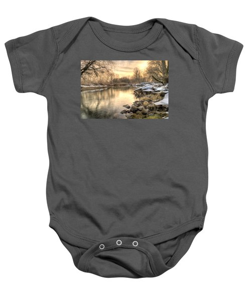 Along The Thames River  Baby Onesie