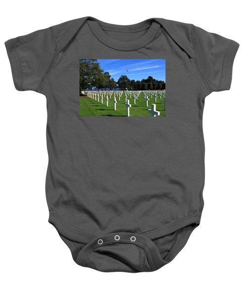 American Cemetery Normandy Baby Onesie