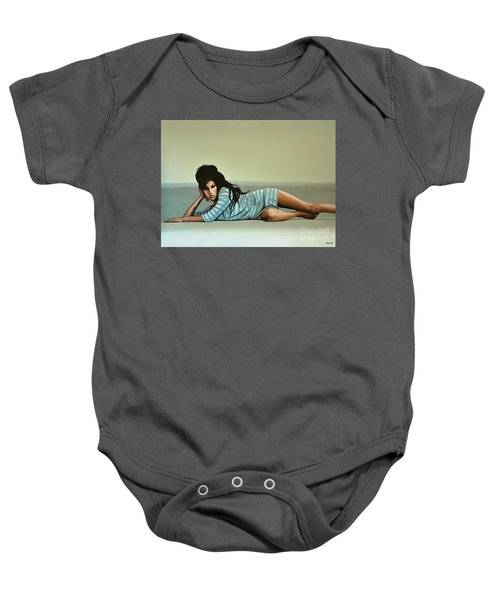 Amy Winehouse 2 Baby Onesie by Paul Meijering