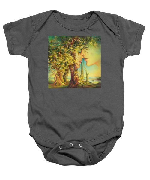 An Encounter At The Edge Of The Forest Baby Onesie