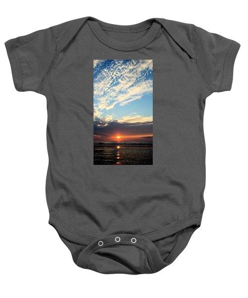 An Ocean And A Sunrise Baby Onesie