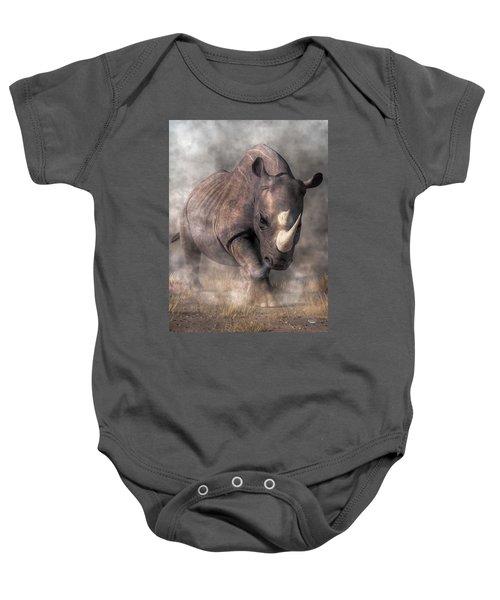 Angry Rhino Baby Onesie