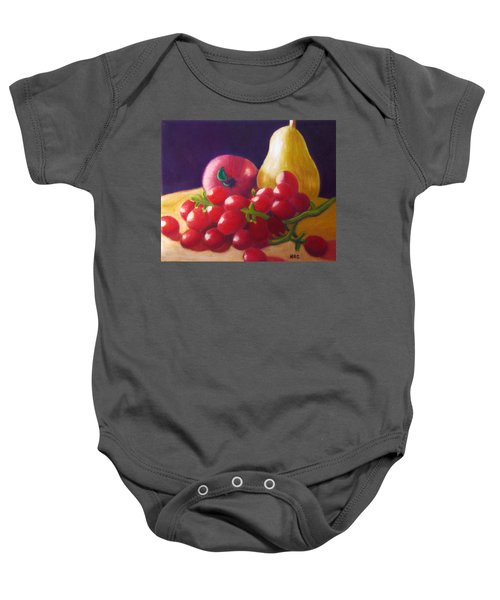 Apple Pear Grapes Baby Onesie